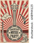 Country Music Party Poster...
