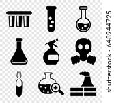 chemical icons set. set of 9...   Shutterstock .eps vector #648944725