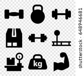 weight icons set. set of 9... | Shutterstock .eps vector #648946681