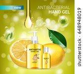 lemon flavor antibacterial hand ... | Shutterstock .eps vector #648948019
