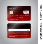 realistic detailed credit cards ... | Shutterstock .eps vector #648949489
