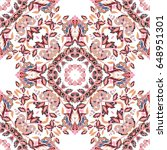 vector seamless floral pattern...   Shutterstock .eps vector #648951301
