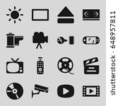 video icons set. set of 16... | Shutterstock .eps vector #648957811