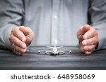 travel insurance airplane... | Shutterstock . vector #648958069
