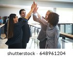 smiling black and white... | Shutterstock . vector #648961204