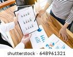 business people meeting... | Shutterstock . vector #648961321
