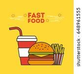fast food illustration | Shutterstock .eps vector #648961555