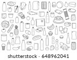 food product outline set on... | Shutterstock .eps vector #648962041