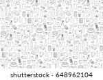 food product outline set on... | Shutterstock .eps vector #648962104