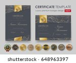 certificate template with... | Shutterstock .eps vector #648963397