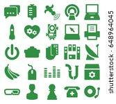 technology icons set. set of 25 ...   Shutterstock .eps vector #648964045