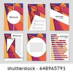 abstract vector layout... | Shutterstock .eps vector #648965791