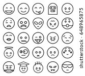 emoticon icons set. set of 25... | Shutterstock .eps vector #648965875