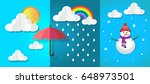 different side of the weather... | Shutterstock .eps vector #648973501