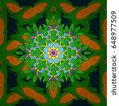 abstract flower background....   Shutterstock . vector #648977509
