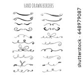 collection of hand drawn ink... | Shutterstock .eps vector #648979087