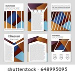 abstract vector layout... | Shutterstock .eps vector #648995095