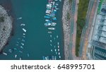 aerial view of boat park on... | Shutterstock . vector #648995701