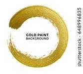 gold circle with golden glitter ... | Shutterstock .eps vector #648996835