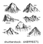 highest mountains of himalaya ... | Shutterstock .eps vector #648998371