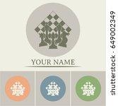 chess club sport emblems or... | Shutterstock .eps vector #649002349