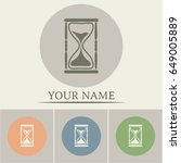 vector illustration of hourglass   Shutterstock .eps vector #649005889