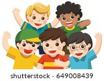 boy group best friends happy... | Shutterstock .eps vector #649008439