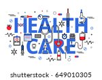 flat line design website banner ... | Shutterstock .eps vector #649010305