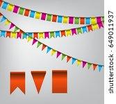 holiday flag vector template... | Shutterstock .eps vector #649011937