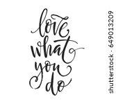 hand drawn word. brush pen... | Shutterstock .eps vector #649013209