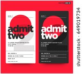 admit two entrance ticket... | Shutterstock .eps vector #649019734