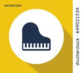 piano top view vector icon | Shutterstock .eps vector #649021534