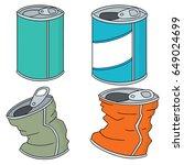 vector set of can | Shutterstock .eps vector #649024699