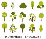 set of trees vector illustration | Shutterstock .eps vector #649026367