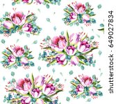 seamless pattern with... | Shutterstock . vector #649027834