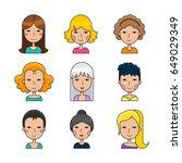 set of modern flat line icon... | Shutterstock .eps vector #649029349