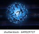 alien mega structure  dyson... | Shutterstock . vector #649029727