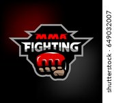 mma fighting. mixed martial... | Shutterstock . vector #649032007