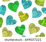 valentine vector seamless...   Shutterstock .eps vector #649037221