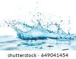 water splash with reflection | Shutterstock . vector #649041454