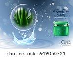 luxury cosmetic bottle package... | Shutterstock .eps vector #649050721
