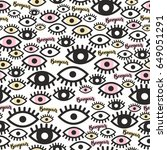 seamless pattern. the eye and... | Shutterstock .eps vector #649051291