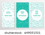 ophthalmology  medical brochure ... | Shutterstock .eps vector #649051531