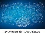 hand drawn manuscript project... | Shutterstock . vector #649053601