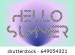 "vector illustration ""hello... | Shutterstock .eps vector #649054321"