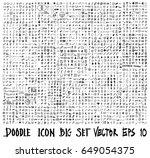 doodle vector icon big set | Shutterstock .eps vector #649054375