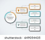 infographic flow chart with 4... | Shutterstock .eps vector #649054435
