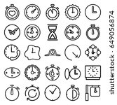 second icons set. set of 25... | Shutterstock .eps vector #649056874
