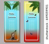 Banners Summer Exotic Motifs...