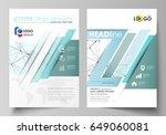business templates for brochure ... | Shutterstock .eps vector #649060081